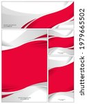 red and white flag abstract...   Shutterstock .eps vector #1979665502