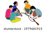 guerrilla fighters are meeting  ...   Shutterstock .eps vector #1979681915