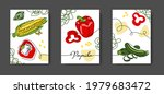 mexican vegetables wall line...   Shutterstock .eps vector #1979683472