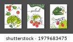 salad wall line art decoration  ... | Shutterstock .eps vector #1979683475