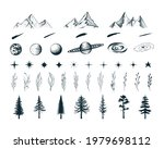 set of  celestial elements....   Shutterstock .eps vector #1979698112