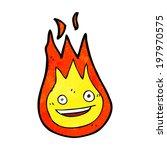 cartoon friendly fireball | Shutterstock .eps vector #197970575