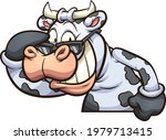 laughing cow taking sunglasses...   Shutterstock .eps vector #1979713415