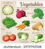 set of green vegetables vector... | Shutterstock .eps vector #1979743538