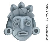 vector stone tiki mask... | Shutterstock .eps vector #1979757302