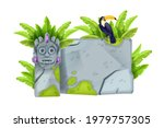jungle stone vector sign board  ... | Shutterstock .eps vector #1979757305