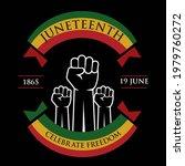 juneteenth day  celebration... | Shutterstock .eps vector #1979760272
