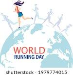 vector design for world running ... | Shutterstock .eps vector #1979774015