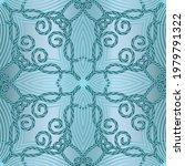 light blue floral lines...   Shutterstock .eps vector #1979791322