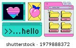 retro desktop with message...