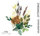 elegant vector floral...   Shutterstock .eps vector #1979890862