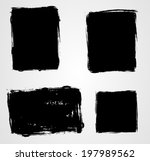 set of grunge template... | Shutterstock .eps vector #197989562
