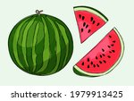set of ripe watermelon and...   Shutterstock .eps vector #1979913425