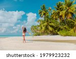 Beach Vacation Woman Sunbathing ...