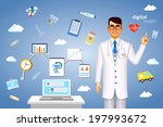 digital health concept with a... | Shutterstock . vector #197993672