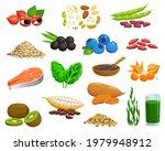 superfoods berries  veggies and ... | Shutterstock .eps vector #1979948912