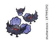 cartoon vampire bats | Shutterstock .eps vector #197995292