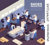 shoes production background...   Shutterstock .eps vector #1979971145