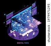 digital twin technology smart...   Shutterstock .eps vector #1979971295