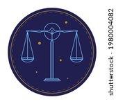 libra zodiac sign  circle...   Shutterstock .eps vector #1980004082