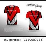 sports racing jersey design....   Shutterstock .eps vector #1980007385