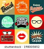 summer vector illustration | Shutterstock .eps vector #198005852