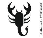 scorpio poison icon. simple...   Shutterstock .eps vector #1980059648