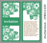 set of invitations with floral...   Shutterstock . vector #198011105