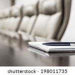 closeup of notepad for agenda... | Shutterstock . vector #198011735