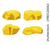 set gold nugget  mineral...