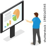 visualize with business... | Shutterstock .eps vector #1980165545