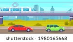 elevated road junction and...   Shutterstock .eps vector #1980165668