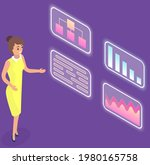 visualize with business... | Shutterstock .eps vector #1980165758