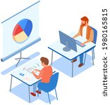 visualize with business... | Shutterstock .eps vector #1980165815