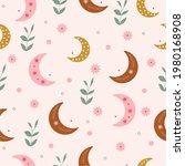 vector cute kids seamless... | Shutterstock .eps vector #1980168908