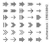 universal pixel arrows set.... | Shutterstock .eps vector #198018842