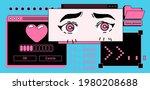 retro desktop with message... | Shutterstock .eps vector #1980208688