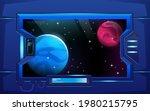 porthole on hallway in... | Shutterstock .eps vector #1980215795