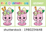 Find 10 Differences. Funny Ice...