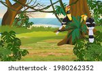 a pair of great hornbill... | Shutterstock .eps vector #1980262352
