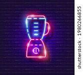 blender neon sign. glowing...   Shutterstock .eps vector #1980266855