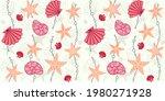 decorative seashells  starfish...   Shutterstock .eps vector #1980271928