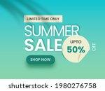 summer sale poster or banner... | Shutterstock .eps vector #1980276758