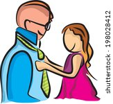 father and daughter | Shutterstock .eps vector #198028412