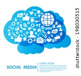 social media concept vector...   Shutterstock .eps vector #198030515