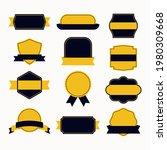 flat design blank badge and... | Shutterstock .eps vector #1980309668