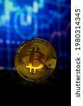 bitcoin gold coin on keyboard... | Shutterstock . vector #1980314345