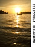 Fishing Boats At Sunset On The...