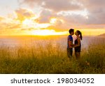 young couple in love outdoor. | Shutterstock . vector #198034052