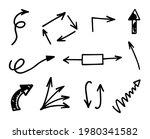 vector set of hand drawn arrows ... | Shutterstock .eps vector #1980341582